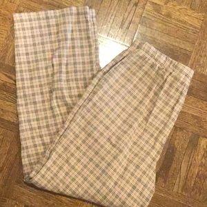 Vintage cotton ankle plaid pant